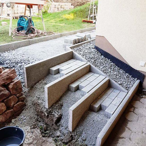 Treppe bauen im Untergeschoss